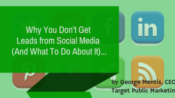Why you don't get leads from social media
